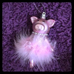 Pig 🐷 ballerina adorable glitter ornament 🎄